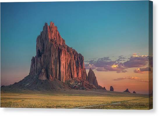 Mexican Canvas Print - Morning Glory On Tse' Bit' Ai' by Michael Zheng