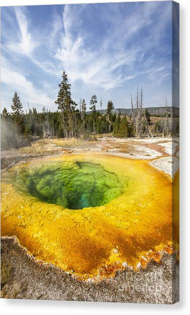 Morning Glory Pool In Yellowstone National Park Canvas Print