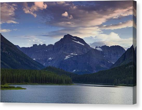 Glacier National Park Canvas Print - Morning Glow At Glacier Park by Andrew Soundarajan