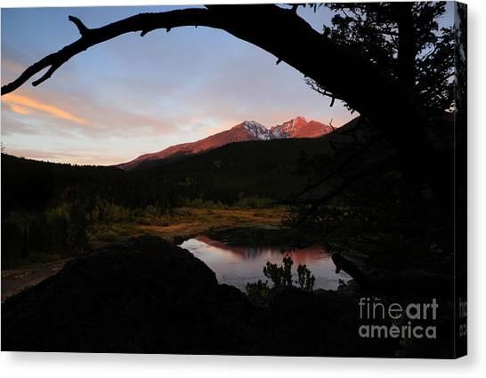 Morning Glow On Mountain Peaks Canvas Print