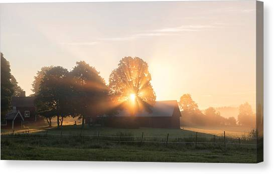 Countryside Canvas Print - Morning Has Broken by Christian Lindsten