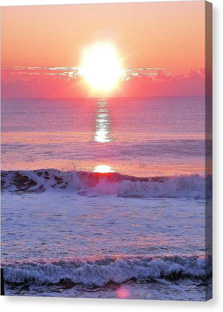 Canvas Print featuring the photograph Morning Has Broken by Kim Bemis