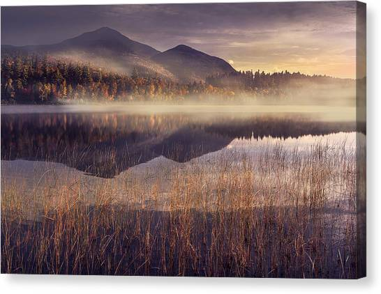 Mountain Sunrises Canvas Print - Morning In Adirondacks by Magda  Bognar