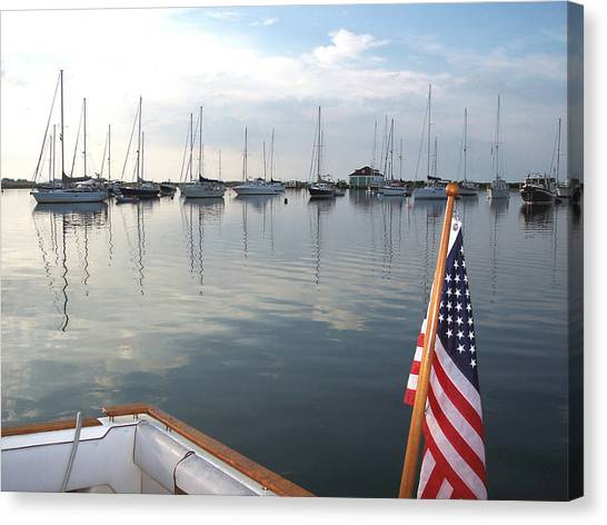 Morning In Cuttyhunk Harbor Canvas Print