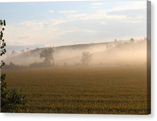 Morning In Iowa Canvas Print by Angie Phillips