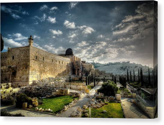 Morning In Jerusalem Hdr Canvas Print