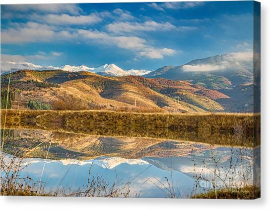 Morning In Pirin Mountain Canvas Print