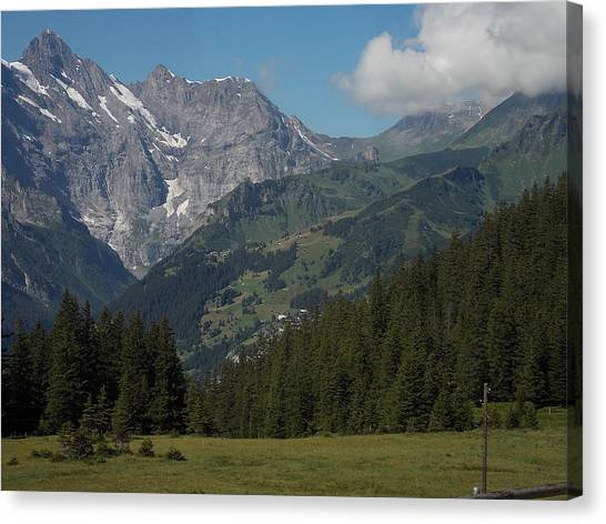 Morning In The Alps Canvas Print