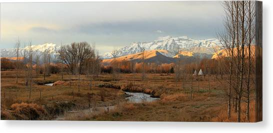 Morning In The Wasatch Back. Canvas Print