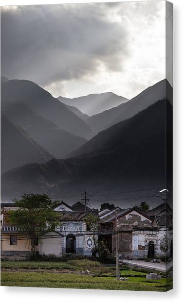 China Town Canvas Print - Morning In Xizhou  by W Chris Fooshee