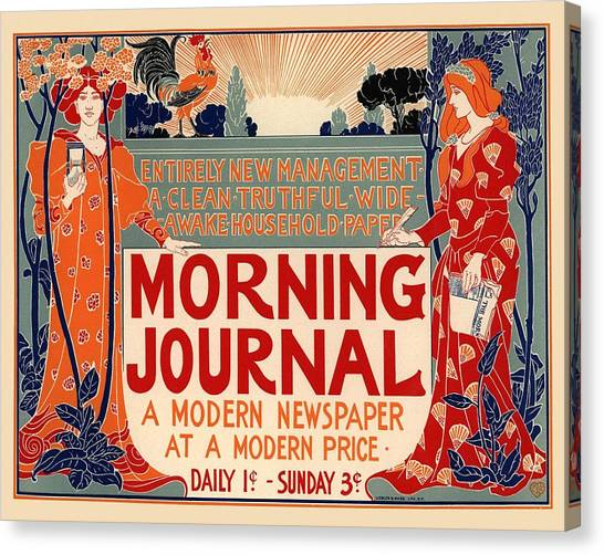 Vintage Canvas Print - Morning Journal by Gianfranco Weiss