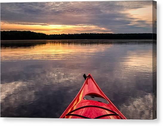Morning Kayak Canvas Print
