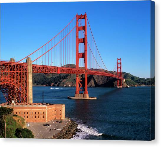 Improve Canvas Print - Morning Light Bathes The Golden Gate by John Alves