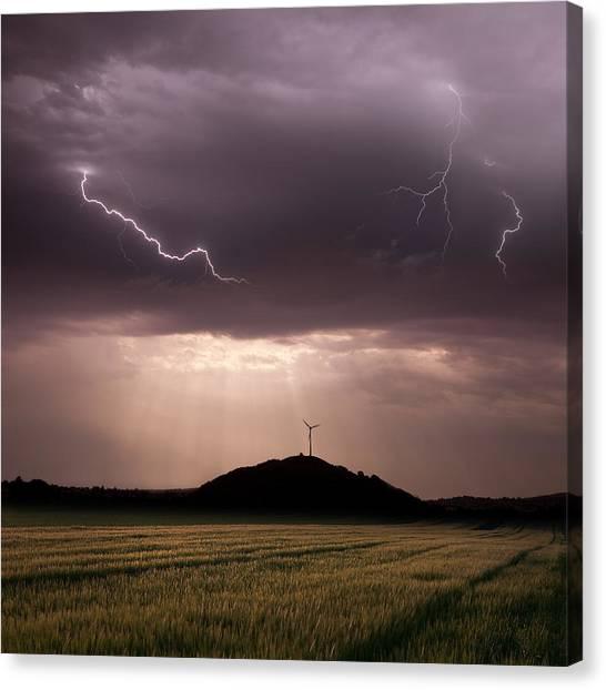 Thunderstorms Canvas Print - Morning Light by Franz Schumacher