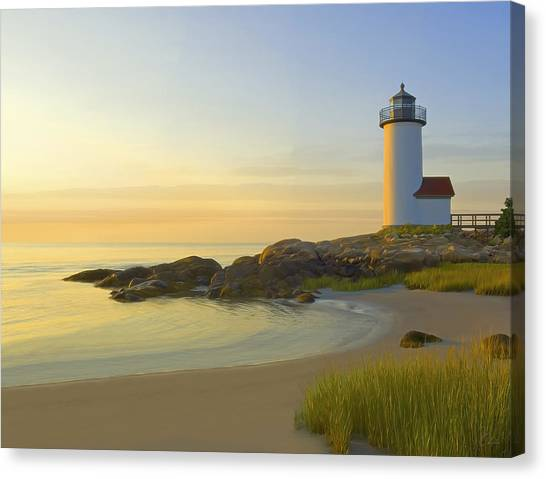 Atlantic 10 Canvas Print - Morning Light by James Charles