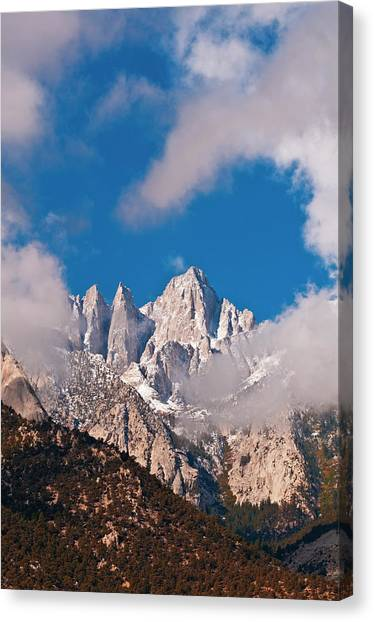 Bishop Hill Canvas Print - Morning Light On The East Face Of Mount by Russ Bishop