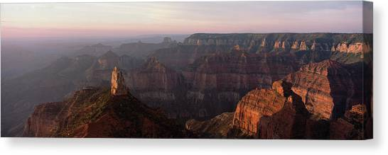 North Rim Canvas Print - Morning Light On The Grand Canyon by Panoramic Images