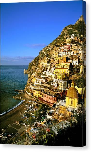 Morning Light Positano Italy Canvas Print