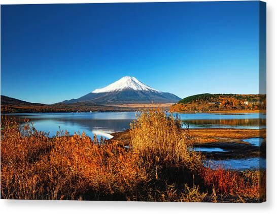 Mount Fuji Canvas Print - Morning Lights by Midori Chan
