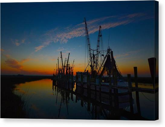 Morning Line Up Canvas Print