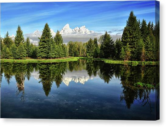 Morning Magic At Schwabacher Canvas Print by Jeff R Clow