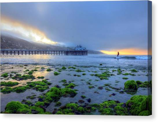Morning Malibu Surf Canvas Print
