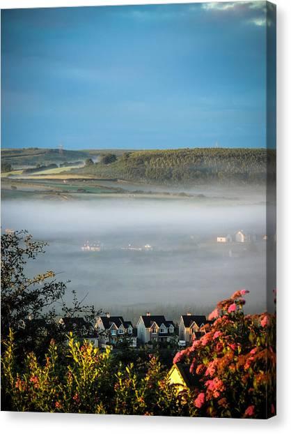 Morning Mist Over Lissycasey Canvas Print