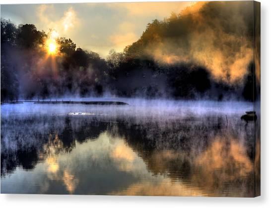 Morning Mist Canvas Print by Steve Parr