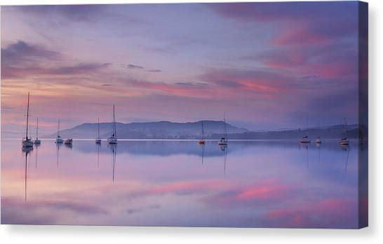 Sailboat Canvas Print - Morning Mood by Max Witjes