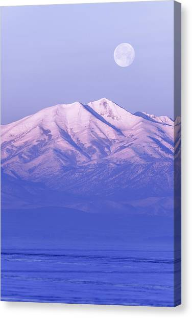 Mountainscape Canvas Print - Morning Moon by Chad Dutson