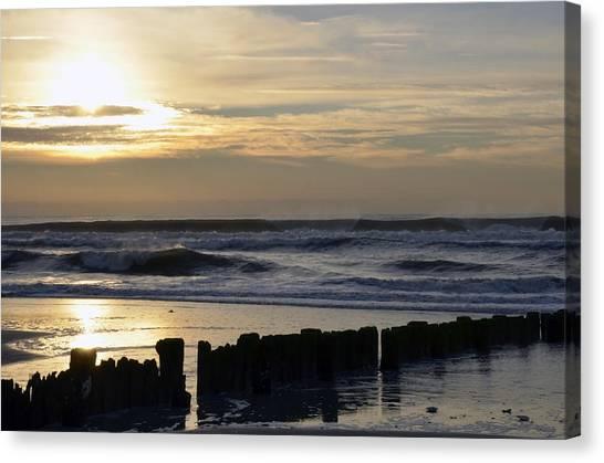 Morning Ocean Rockaway Beach 3 Canvas Print