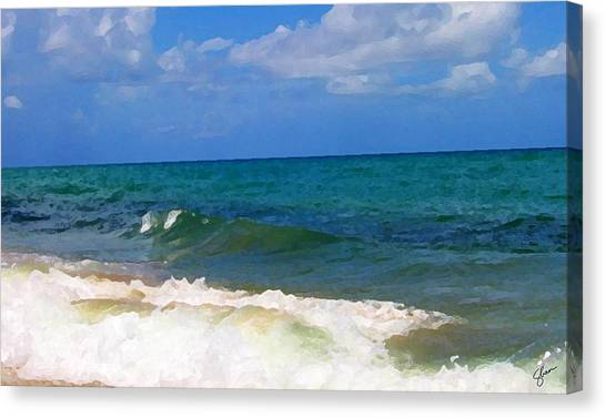 Morning On Boynton Beach 2 Canvas Print by Shawn Lyte