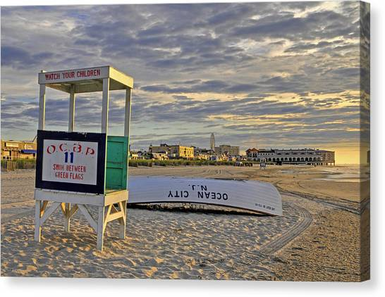 Morning On The Beach Canvas Print