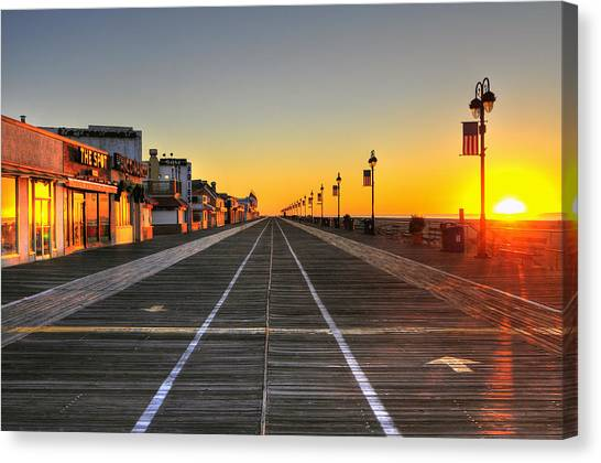 Morning On The Boardwalk 2 Canvas Print
