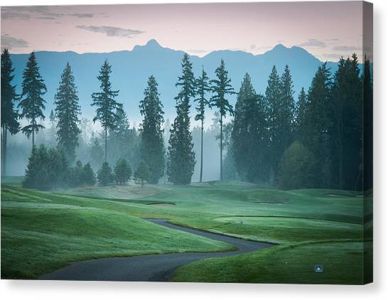 Morning On The Golf Course Canvas Print
