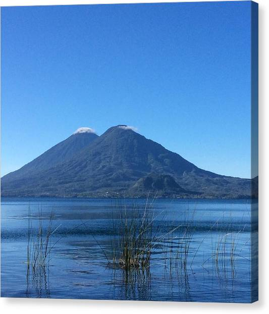 Volcanoes Canvas Print - Morning On The Lake by Josias Tomas