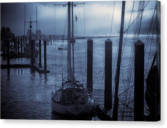 Morning On The Siuslaw Canvas Print by Michael Connor