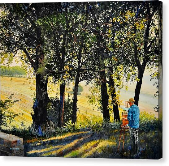 Morning Plein-air In Southern France Canvas Print