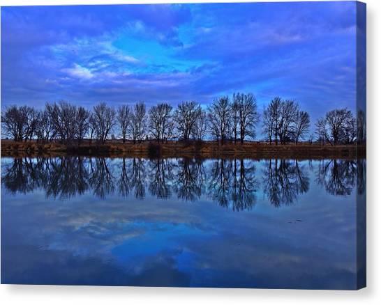 Blue Morning Reflection Canvas Print