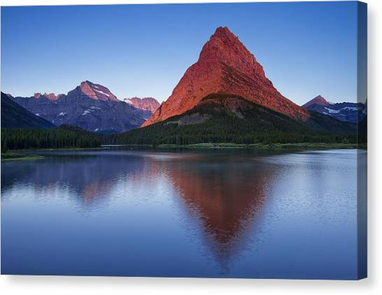 Glacier National Park Canvas Print - Morning Reflections by Andrew Soundarajan