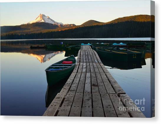 Morning Reflections With Mount Ranier Canvas Print
