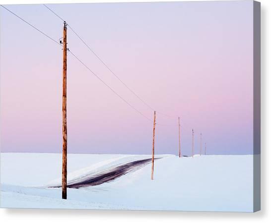 Utility Canvas Print - Morning Road by Todd Klassy