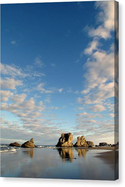 Morning Rocks Canvas Print