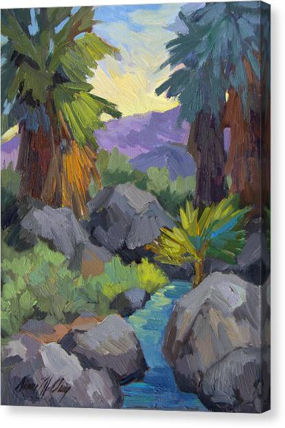 Oasis Canvas Print - Morning Shade Andreas Canyon by Diane McClary