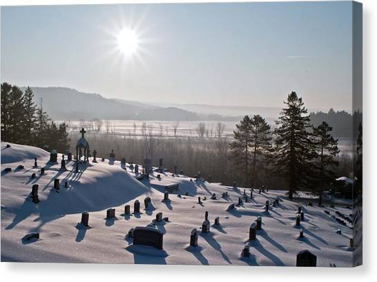 Morning Shadows In The Graveyard Canvas Print