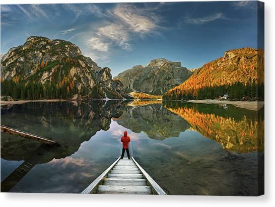 Dolomites Canvas Print - Morning Silence... by Krzysztof Browko