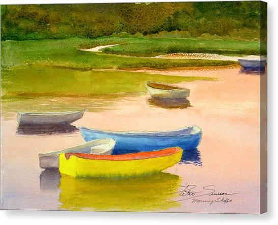 Morning Skiffs Canvas Print