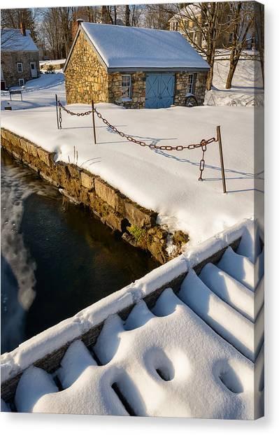 Morning Snow Canvas Print