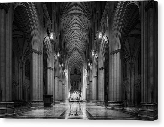 Cathedrals Canvas Print - Morning Solitude by Christopher Budny