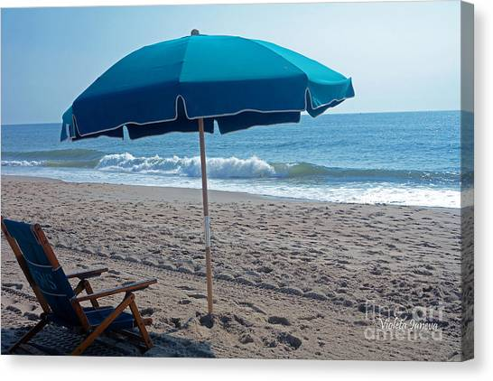 Violeta Canvas Print - Morning Spot On The Beach by Violeta Ianeva